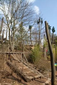 Ein Paradies für Kletterfans: Zahllose Leitern, Stege und Brücken laden zum Toben ein.