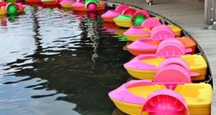 Die Power-Paddelboote gehören zu den neueren Attraktionen im Funpark und wurden erst 2013 eröffnet.