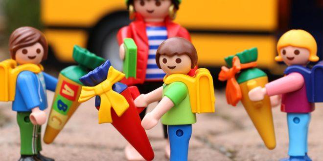 Am 13. September 2016 ist Schulanfang in Bayern. Auf Erstklässler warten Überraschungen im Playmobil Funpark (Foto: Playmobil).