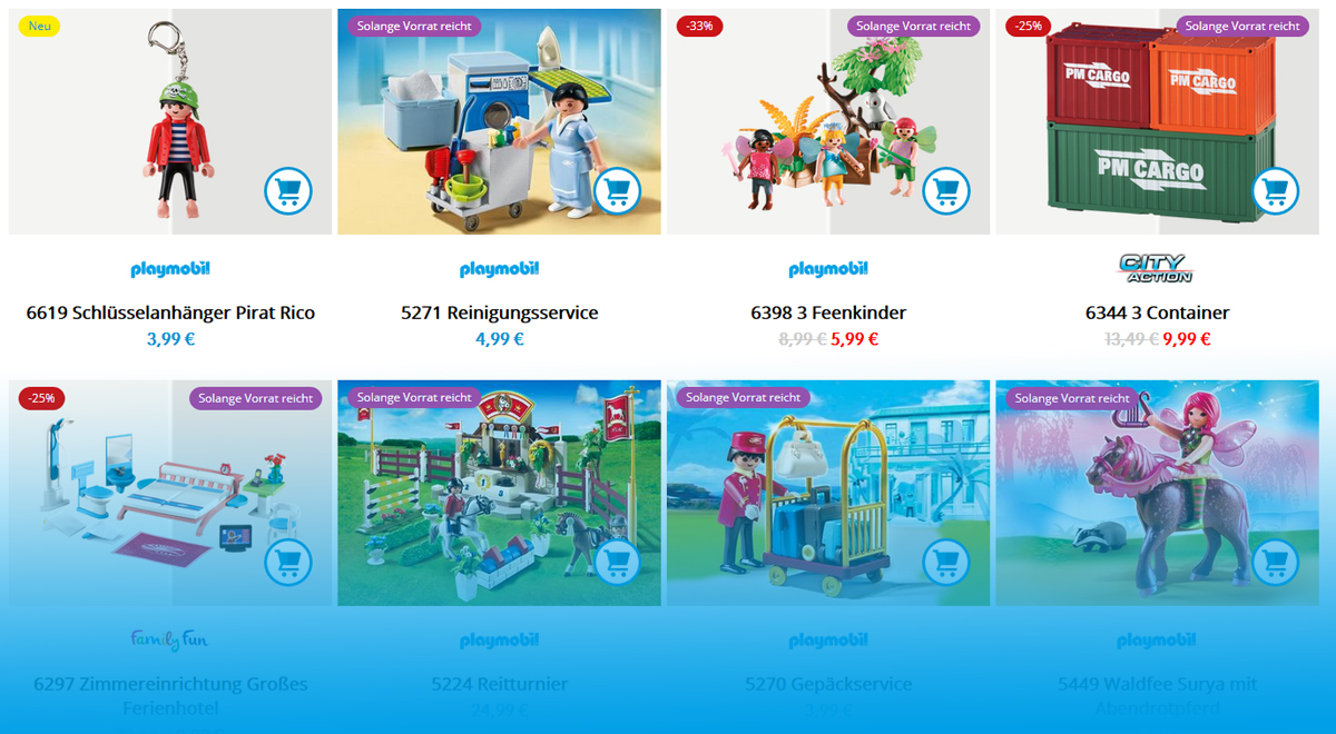 neuer playmobil onlineshop ersatzteile zubeh r. Black Bedroom Furniture Sets. Home Design Ideas