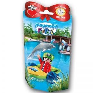 """Die Playmobil Charity-Figur ist für 2,99 Euro erhältlich - 1 Euro geht an """"Herz für Kinder"""" (Foto: PLAYMOBIL)."""