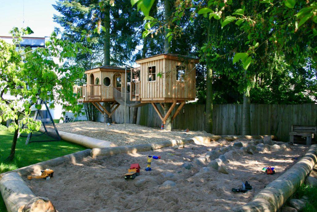 Paradies für Kinder: Zwei neue Baumhäuser laden zum Toben ein.