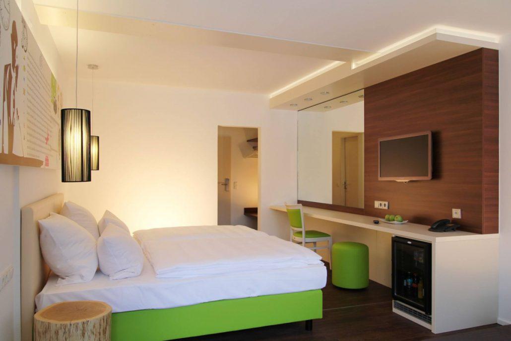 Hotel Knorz Zirndorf: Die 22 Zimmer sind komfortabel und modern eingerichtet.