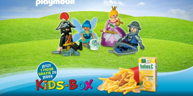 Playmobil-Figur gratis zur Kids-Box bei Tank & Rast