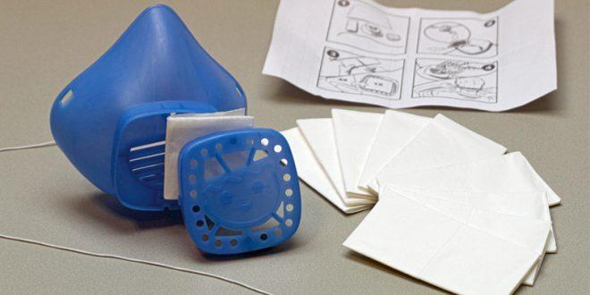 Smarte Idee: Die Playmobil Nase-Mund-Maske ist wiederverwendbar (Foto: Brandstätter Gruppe)