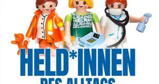 Der Erlöse der Playmobil Sonderfiguren zur Corona-Pandemie kommt dem Roten Kreuz zugute (Foto: Brandstätter-Gruppe)